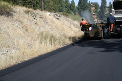 picture of paving and dyke work